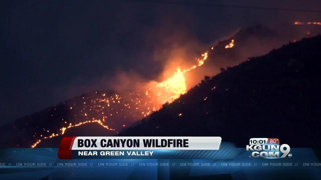 Crews battle Sawmill Fire in Green Valley