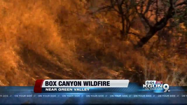 Sawmill Fire Spreads Overnight Above Green Valley, Arizona