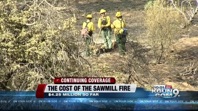 Sawmill Fire expands, but is now 40 percent contained