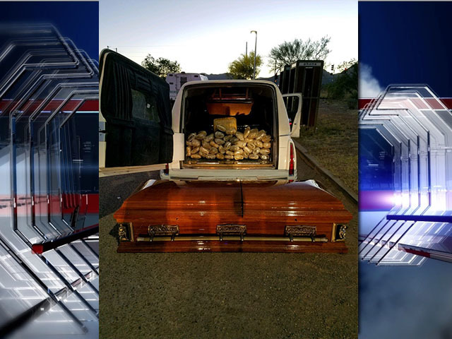 67 pounds of pot stashed in casket inside hearse
