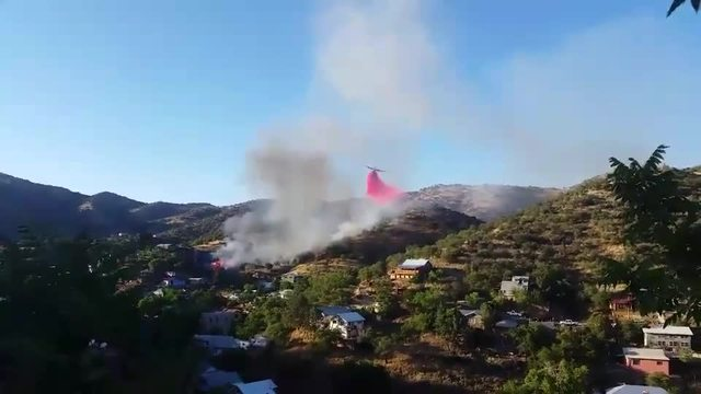 Wind-whipped fire reported in Bisbee; Homes being evacuated