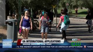 UA seeing decline in international applications