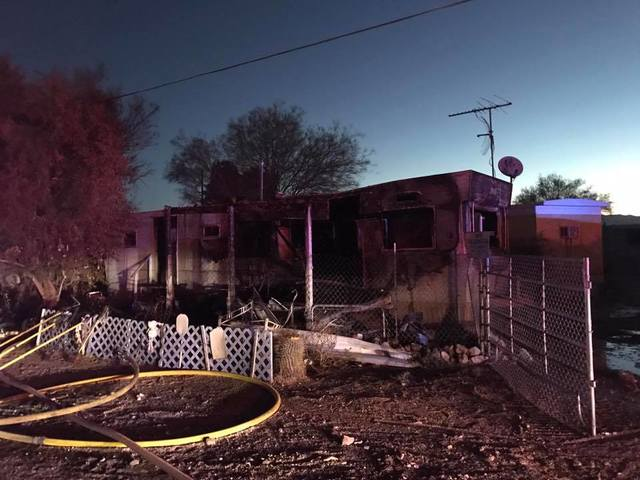 Two injured in southside mobile home blaze