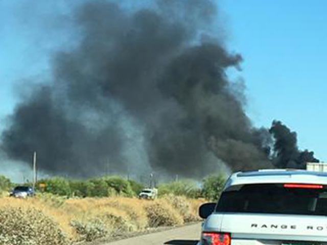 Semi catches fire on Interstate 10