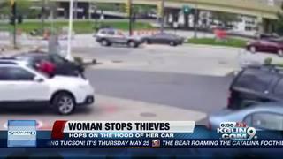 Milwaukee woman thwarts car thief