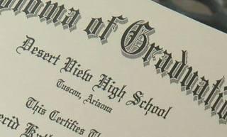 Desert View diploma fails spelling test