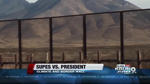 Tucson, Pima County vote to oppose Trump's border wall