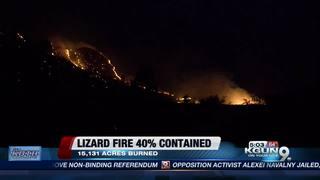 Firefighters making progress on Lizard Fire
