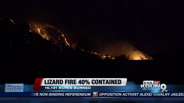 Firefighters gaining on wildfire in SE Arizona
