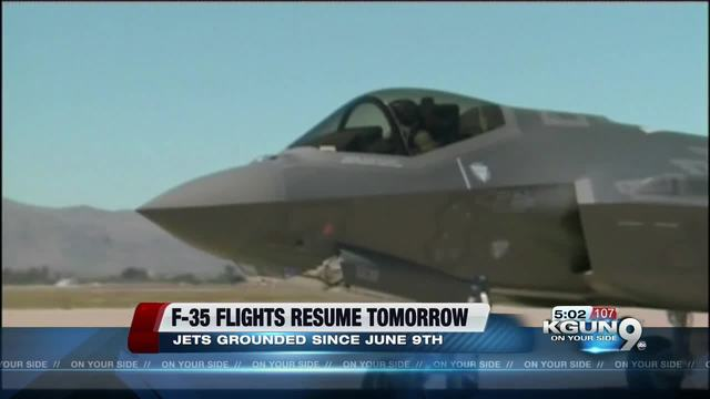 Air Force to resume F-35 operations after suspension at Arizona base
