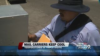 The mailman still delivers, rain or shine