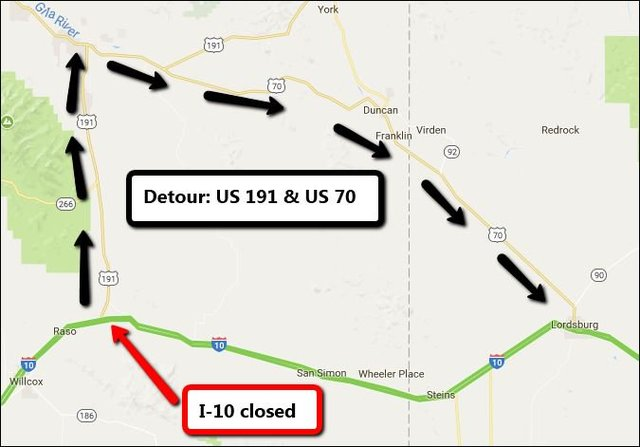 I-10 reopens in southeastern Arizona