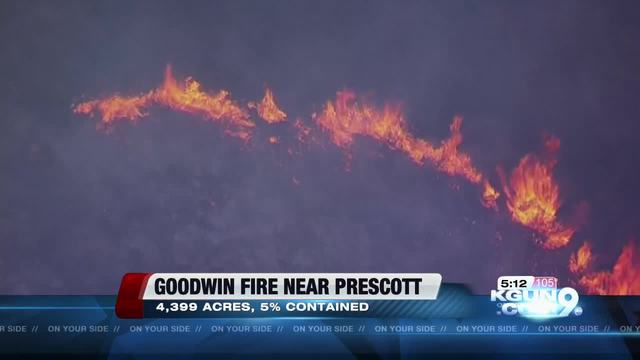 Goodwin Fire 25 percent contained; acreage remains at 25000