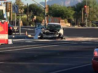 Woman injured in rollover