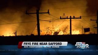 Frye Fire growing 7 miles southwest of Safford