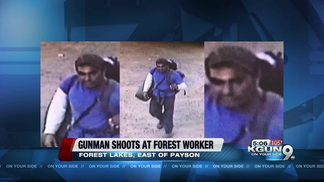 Manhunt underway for arson suspect accused of firing at Forest Service employee