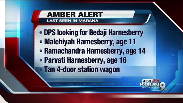 AMBER Alert issued for three children allegedly abducted from Marana
