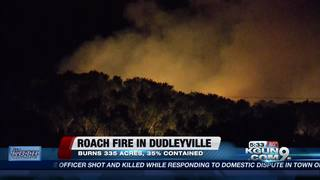 Roach Fire raging near Dudleyville