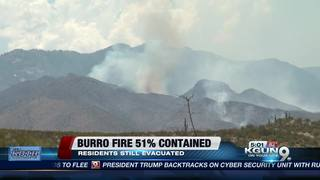 Firefighters battle Burro Fire