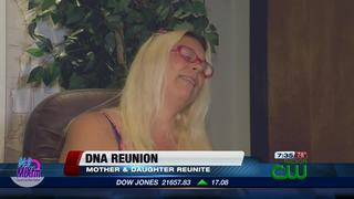 Woman uses DNA test to reunite with birth mother