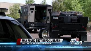 Man found in PCC library with gunshot wound