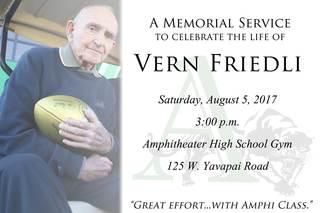 Friedli memorial service Aug. 5