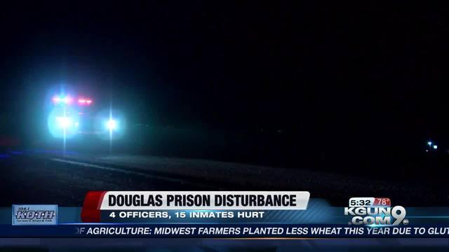 12 inmates hurt in melee back at Arizona prison