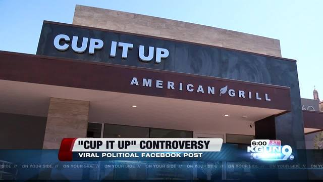 Cup it up restaurant closed indefinitely after political FB post backfires