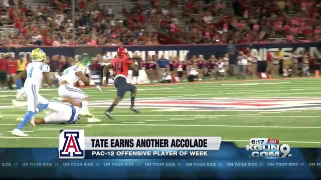 Arizona QB Khalil Tate wins Pac-12 award again