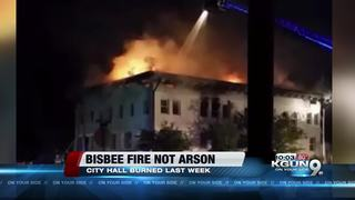 Fire at Bisbee City Hall not arson