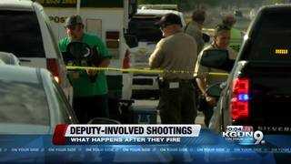 What happens after a deputy-involved shooting