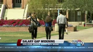 Those with a college degree earn more per year