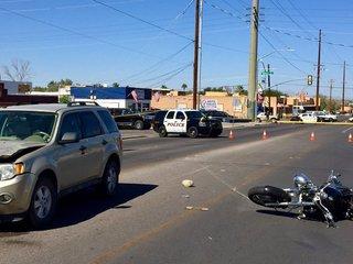 Man dies in fatal motorcycle vs SUV crash