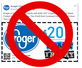 Kroger warns customers of fake $200 coupon