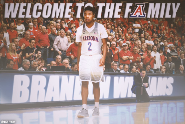 Top PG Brandon Williams recommits to Arizona
