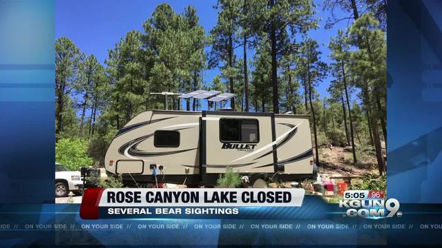 Rose canyon lake closed due to dangerous bear for Fish and game office near me