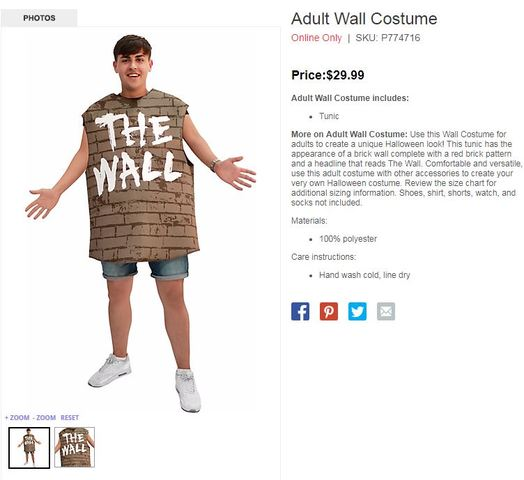 Party City Selling Costume Called The Wall Fox 4 Now Wftx Fort