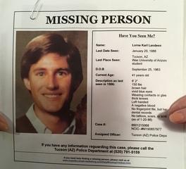 VANISHED: Lorne Landeen, missings since 1986