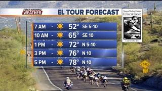 FORECAST: Nice weather for the El Tour de Tucson