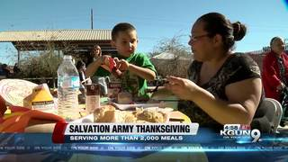 Two thousand meals served at Salvation Army