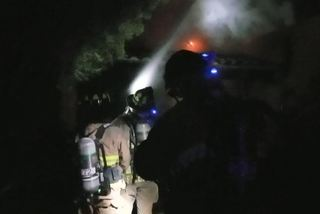 House burns in fire east of town