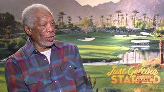Morgan Freeman talks