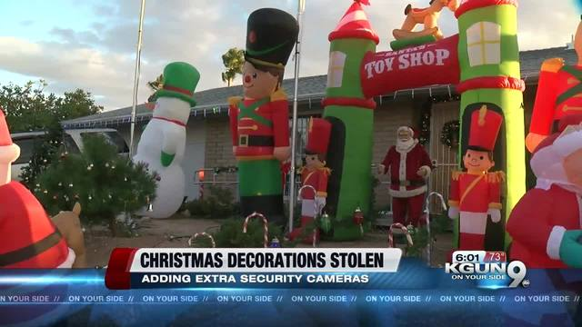 homeowner says inflatable christmas decorations were stolen at east side home kgun9com - Cheap Inflatable Christmas Decorations