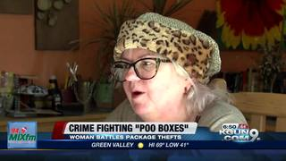 Woman fights porch thefts with boxes of poo