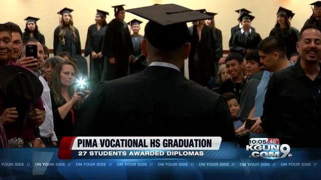 Pima Vocational High School awards 27 diplomas