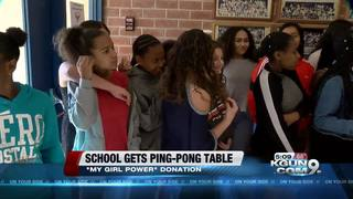 Ping-pong table donated to TUSD school