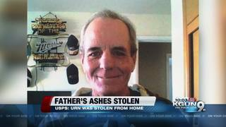 Father's ashes stolen from daughter's home