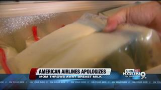 AA forces mom to throw away breast milk