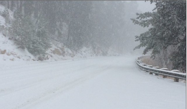 Mount Lemmon closed at the base due to weather