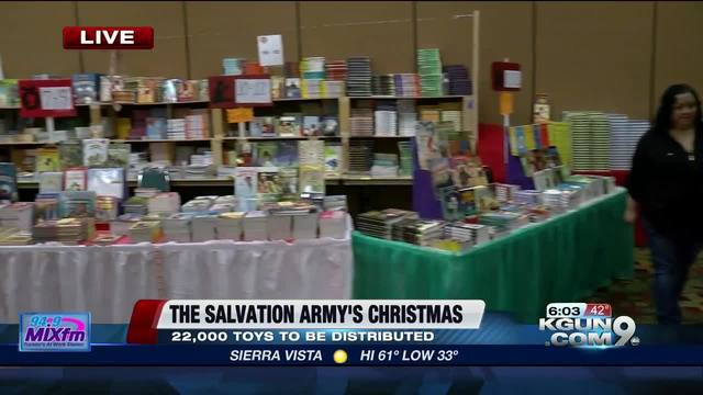 Salvation Army distributes hundreds of gifts to unfortunate families